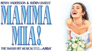 Mama Mia - Girl in wedding dress smiling
