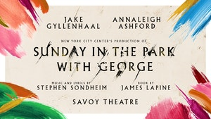 Show title surrounded by the cast names.