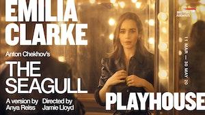 Emilia Clarke looking into a mirror
